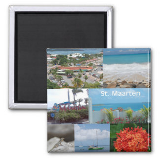 Sint Maarten-Saint Maarten Photo Collage Magnet