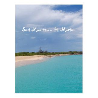 Sint Maarten - scène de plage de St Martin Carte Postale