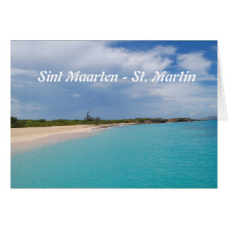 Sint Maarten - St. Martin Beach Scene Card