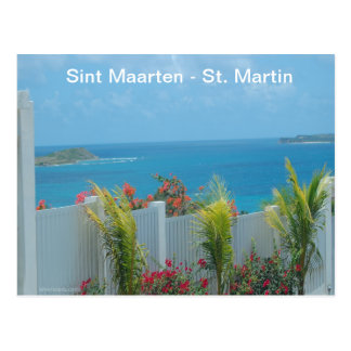 Sint Maarten - St. Martin Ocean Blue Seascape Postcard