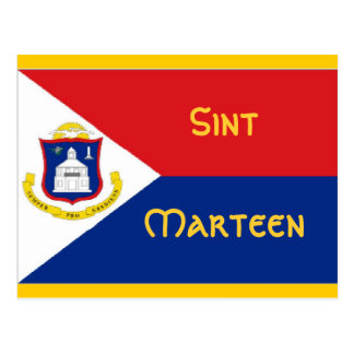 Sint Marteen St Martin flag Postcard