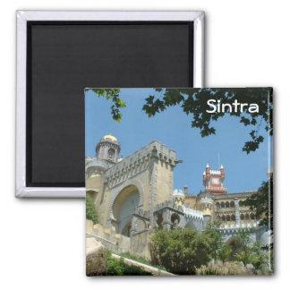 Sintra castle square magnet