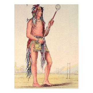 Sioux ball player Ah-No-Je-Nange Postcard
