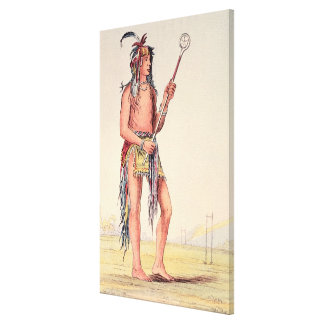 Sioux ball player Ah-No-Je-Nange Stretched Canvas Print