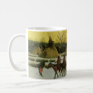 Sioux Camp at Wounded Knee by John Hauser Coffee Mug