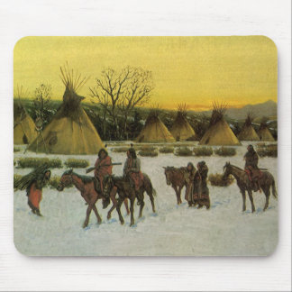Sioux Camp at Wounded Knee by John Hauser Mouse Pad