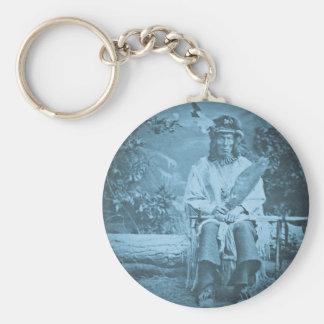 Sioux Chief Medicine Bear Vintage Stereoview Basic Round Button Keychain