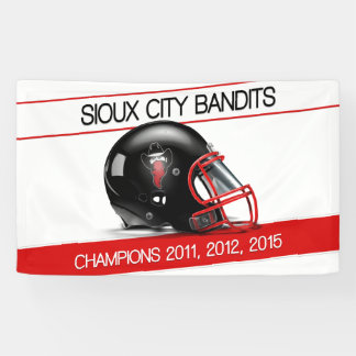 Sioux City Bandits Outdoor Banner 3' x 5'