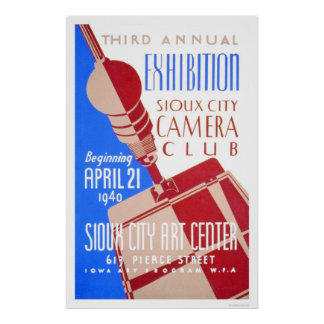 Sioux City Camera Club 1940 WPA Poster