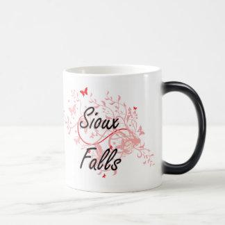 Sioux Falls South Dakota City Artistic design with Magic Mug