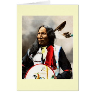 Sioux Indian Chief Card