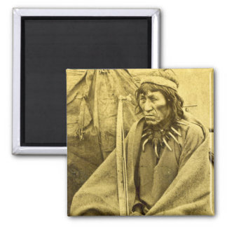 Sioux Indian O-Ta-Dan Square Magnet