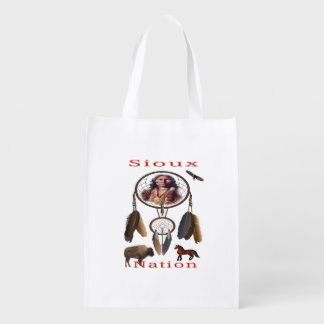 Sioux Nation mercnandise Reusable Grocery Bag