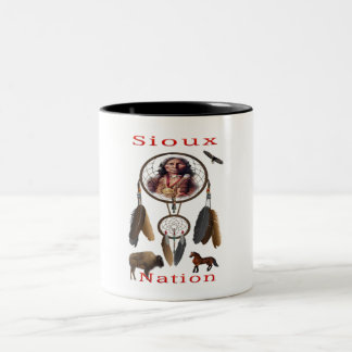 Sioux Nation mercnandise Two-Tone Coffee Mug