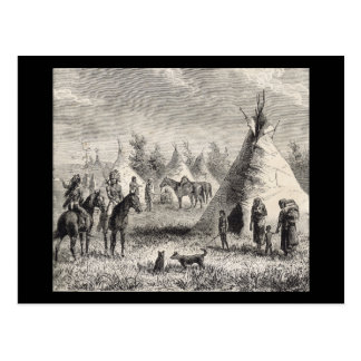 Sioux Village, circa 1876 Postcard
