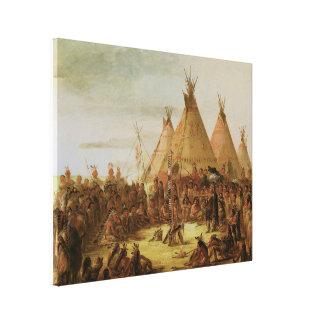 Sioux War Council Canvas Print