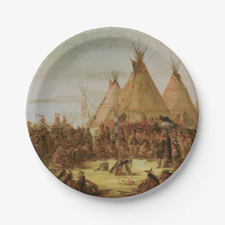 Sioux War Council Paper Plate