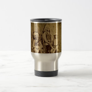 Sioux War Council Vintage Stereoview Coffee Mugs