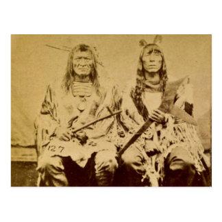 Sioux War Council Vintage Stereoview Postcard