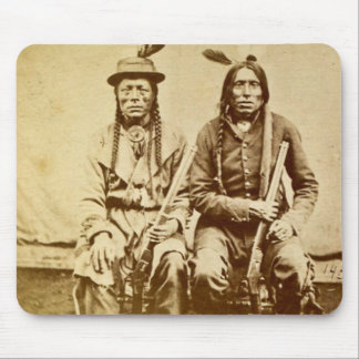 Sioux Warriors with Repeating Rifles Vintage Mouse Pad