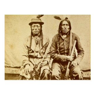 Sioux Warriors with Repeating Rifles Vintage Postcard