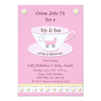 Sip and See Invitations Baby Girl