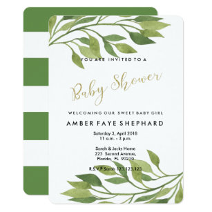Baby Welcome Party Invitation