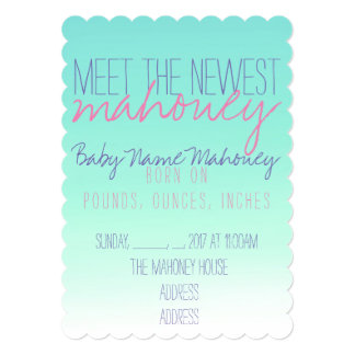 Sip and See , Meet Baby Card