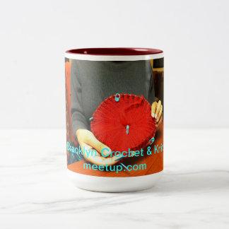 Sip, Crochet & Knit Two-Tone Coffee Mug