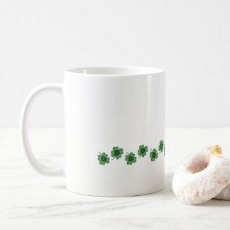 Sip in the Luck  - Four Leaf Clovers - Lucky Mug