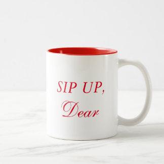 Sip Up, Dear Two-Tone Coffee Mug