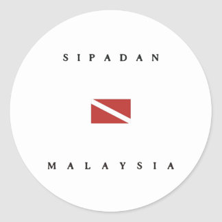 Sipadan Malaysia Scuba Dive Flag Classic Round Sticker