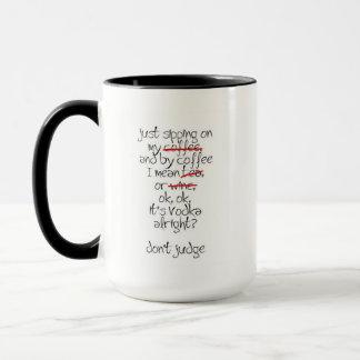 Sipping on my coffee mug