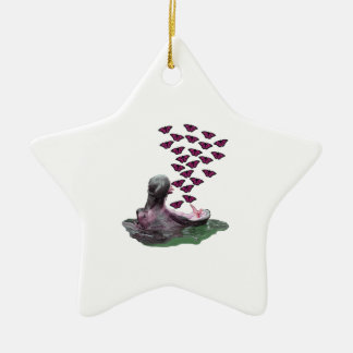 Sipping on Sunshine Ceramic Star Ornament