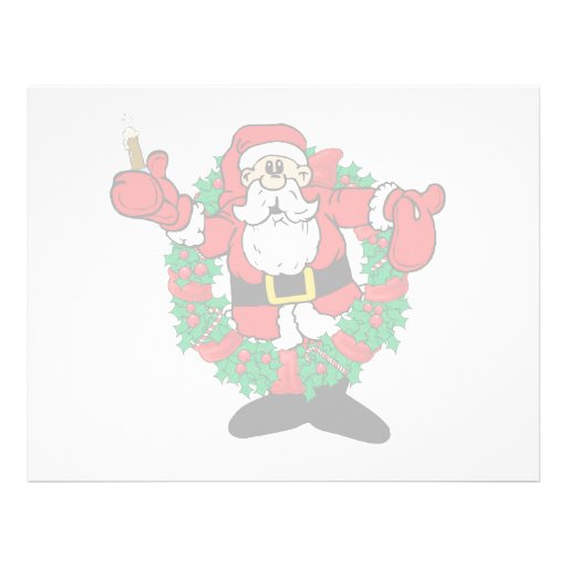 Sipping Santa Letterhead Template