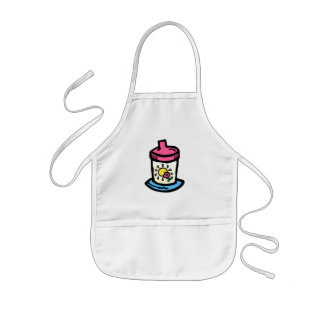 sippy cup kids apron