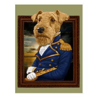 Sir Airedale Terrier Postcard