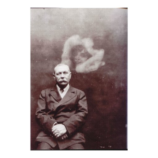 Sir Arthur Conan Doyle with Ghost by Ada Deane Art Photo