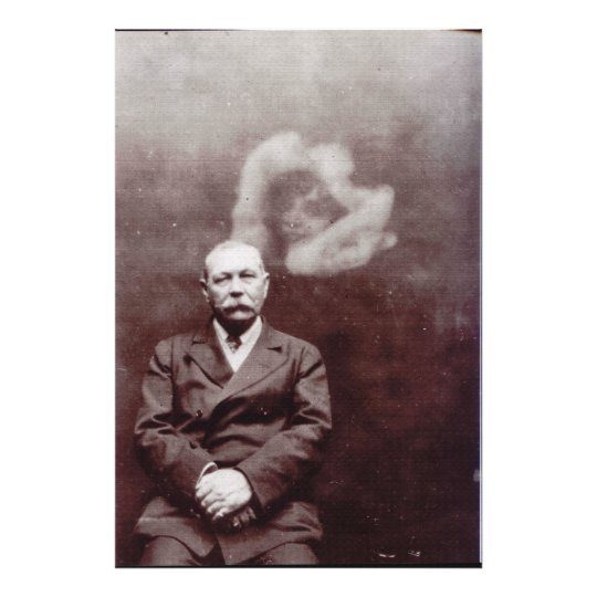 Sir Arthur Conan Doyle with Ghost by Ada Deane Photo Print