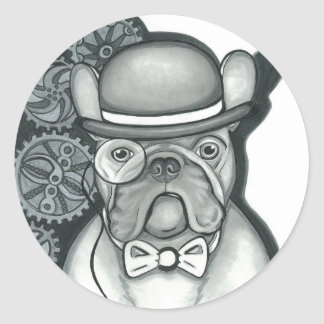 Sir Bouledogue Round Sticker
