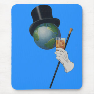 Sir Earth is having a cocktail Mouse Pad