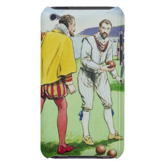 Sir Francis Drake (1540/3-96) playing bowls, from Barely There iPod Covers