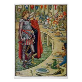 Sir Galahad in Court of King Arthur Poster