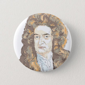 Sir Isaac Newton 2 Inch Round Button