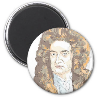 Sir Isaac Newton 2 Inch Round Magnet