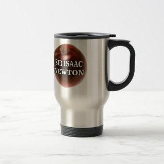 sir isaac newton apple travel mug