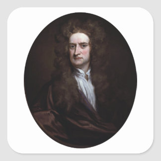 Sir Isaac Newton by Godfrey Kneller 1702 Square Sticker