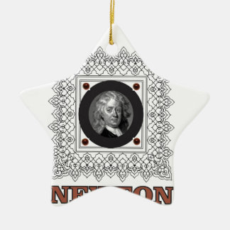 sir isaac newton ceramic star ornament