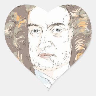 Sir Isaac Newton Heart Sticker