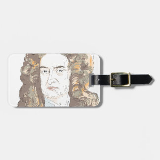 Sir Isaac Newton Luggage Tag
